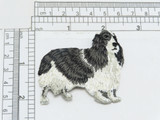 """Cocker Spaniel Dog Applique  Fully Embroidered  Measures 2 3/8"""" across  x 2 1/8"""" high"""