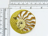 """Sun and Moon Gold & Beige Applique  Fully Embroidered with Rayon and Metallic Threads  Measures 2 1/4"""""""" wide approximately"""