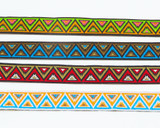 "Jacquard Ribbon 5/8"" Aztec Triangle Per 9 Meter Roll"