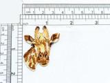 Giraffe Head Face Iron on Applique