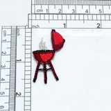 Red BBQ Grill Applique