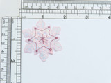 """Pink Sparkle Snowflake Opalescent 1 3/4"""""""