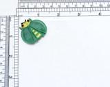 LadyBug Layered Wing Bug Iron On Applique Green