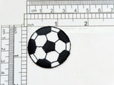 """Soccer Ball Embroidered Iron On Embroidered Applique   Measures 1 3/8"""" across x 1 3/8"""" High"""