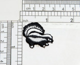 """Skunk Embroidered Iron On Patch  Fully Embroidered  Measures 1 1/4"""" across x 1"""" high approx"""