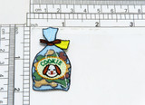 """Puppy Dog Cookie Bag Iron On Applique  Highly Detailed   Measures 1"""" across x 2 """" high  (25mm x 50mm) approx"""