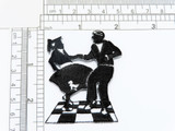 """50'S Dancing Couple Jive Iron on Patch  Measures 2"""" across x 2 1/2"""" high"""