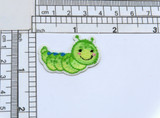 """Cute Caterpillar iron on Applique   - Measures 1 1/2"""" x 1""""  as pictured"""