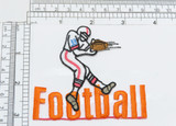 """American Football receiver Iron On Patch Fully Embroidered Measures 3 3/8"""" across x 3"""" high"""