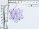 "Purple Sparkle Snowflake Opalescent Iron On Patch Applique   Measures 2"" high x 2 1/8"" wide"