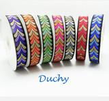 """Jacquard Ribbon 1"""" 25mm Duchy 9 Meters"""