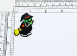"""Wicked Halloween Witch - Iron On Patch Applique   Measures 1 5/8"""" high x 1 1/2"""" wide"""