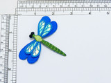 """Dragonfly Sparkle Wing  2 3/4"""" x 2 1/4""""  Embroidered with  rayon Threads on a Sparkle Backing  Measures 2 3/4"""" across x 2 1/4"""" high"""