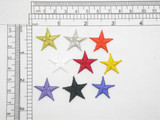 """Star 3/4"""" Embroidered iron On Applique"""