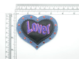 Heart Lover Patch Denim & Leather Embroidered Iron On Patch Applique