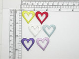 Open Heart Patch Embroidered Iron On Applique - 5 Pack
