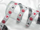 """Casino Jacquard Ribbon 3/4"""" 5 Yards"""
