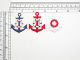 Anchor With Life Preserver - Iron On Patch Applique