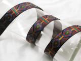 "Jacquard Ribbon 15/16"" (24mm) South Western Style"