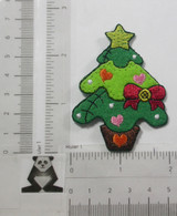 Christmas Tree with Bow Iron On Patch Applique