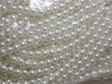 "60"" String 6mm Antique White Faux Pearl Beads Bridal"