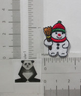 Snowman with Broom Mini Iron On Patch Applique