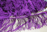 "2.75 yds Purple 4.5"" drop Angel Hair Fringe Trim"