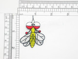 """Mosquito Patch Iron On Embroidered Applique 2"""" x 1 1/2"""""""
