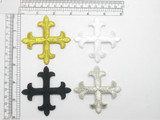 """Latin Equal Cross 3"""" Iron On Patch Applique (75mm) *Colors*"""