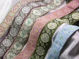 """Jacquard Ribbon 1 1/2"""" (38mm) Floral Circle *Colors*"""