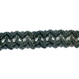 "Leather Braid 1 1/4"" Black Heavy Zig Zag"