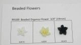 "Organza Beaded Flowers 3/4"" (19mm) 10 pack"