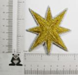 "Star 3 1/2"" (88.9mm) Metallic Gold & Silver"