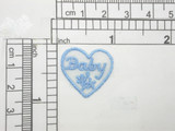 """6 x Baby in Heart Embroidered Iron On Appliques Measure 15/16"""" across x 7/8"""" high"""