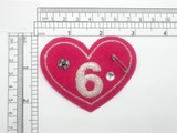 """Punk Heart Patch 3"""" Embroidered Iron On Applique"""