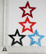 """Open  Star 3"""" (75mm) BOLD *Colors*"""