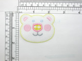 Bear Face Patch Iron On Embroidered Applique - Nursery
