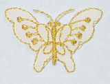 "Butterfly 1 5/8"" White & Gold"