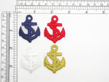 "Anchor Iron On Patch Applique 1 5/8"" high (41mm) x 1.25"" wide (32mm)approx"
