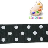 """Grossgrain Ribbon 1.5"""" Polka Dot 5 Yards *Colors*"""