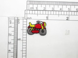 Motorcycle Motorbike Patch Mini Iron On Embroidered Applique  5 Pack