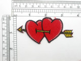 Lovestruck Hearts Patch Embroidered Iron On Applique
