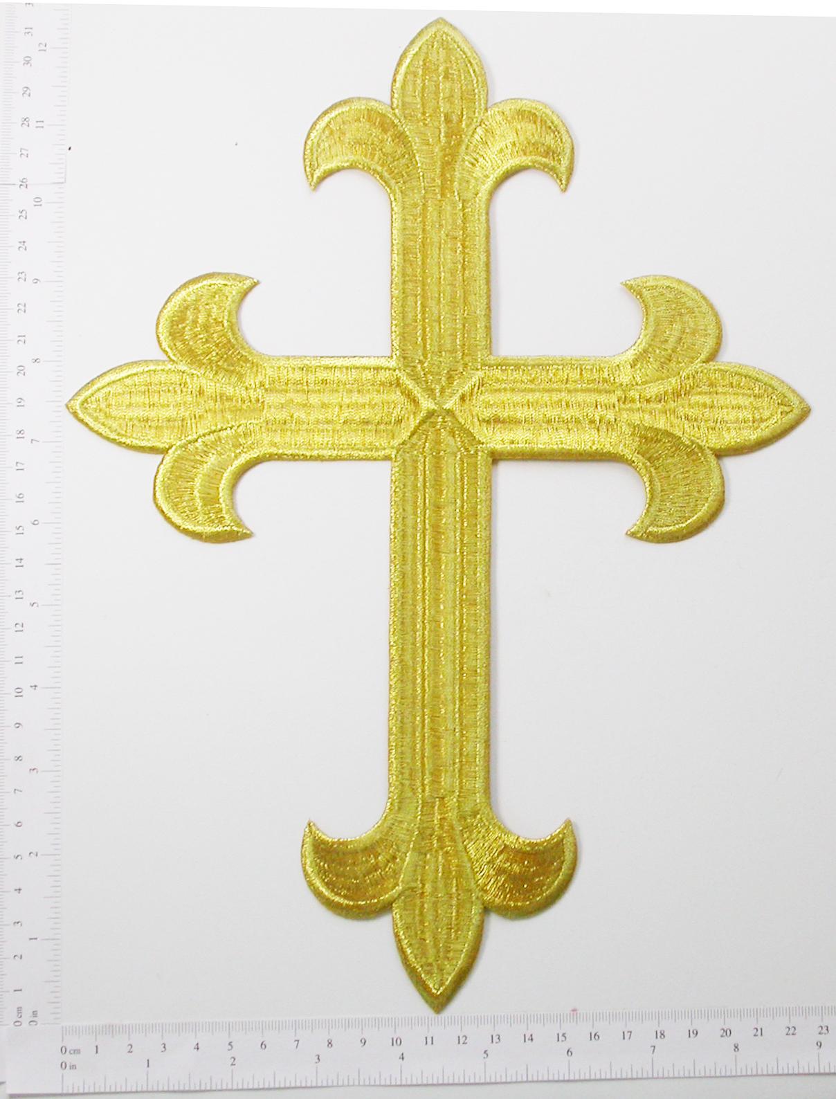 "Latin Cross  12"" x 8 7/8""Patch Iron On Applique - (305mm x 225.4mm)"