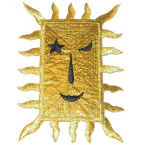Rectangular Sun Metallic Gold
