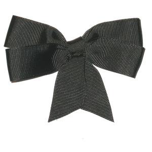"Ribbon Bow 4"" Black - 5 Pack"