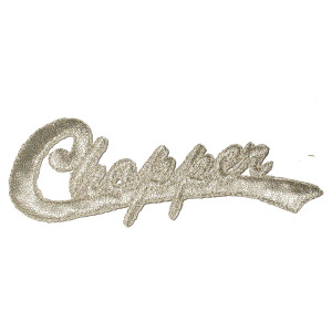 Iron On Patch Applique - Chopper Word