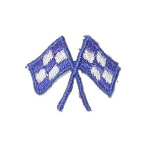 Blue Crossed Racing Flags