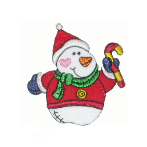 """Snow Man Patch Santa Suit  Applique 4"""" (102mm) x 2 1/8"""" (54mm)"""