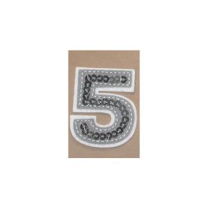Sequin Felt Number Five 5