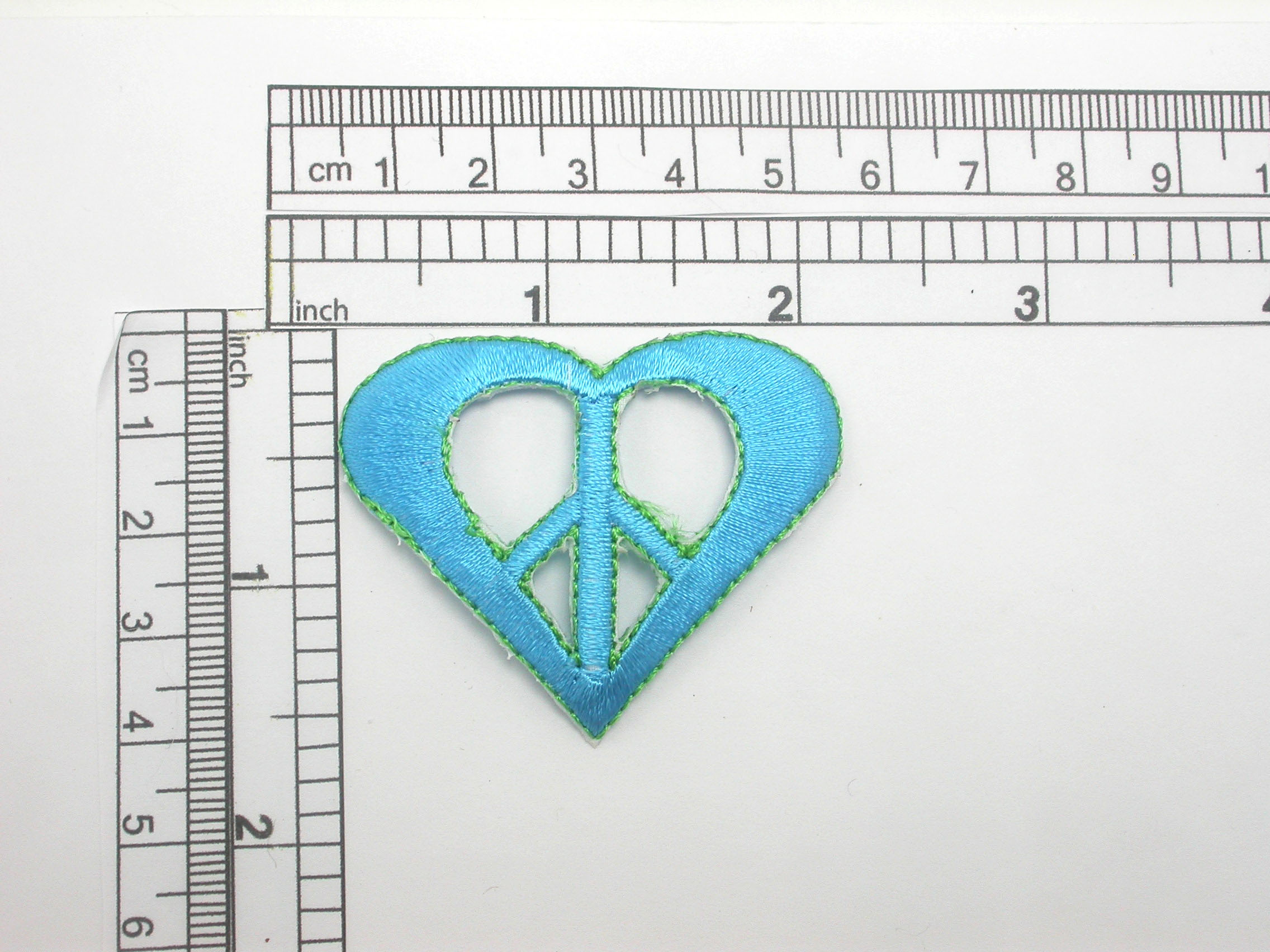 Peace in Heart Patch Embroidered Iron On Applique